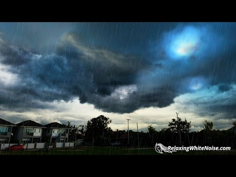 Rain + Deep Thunder Nature Sounds | Relax, Study, Sleep | White Noise 10 Hours