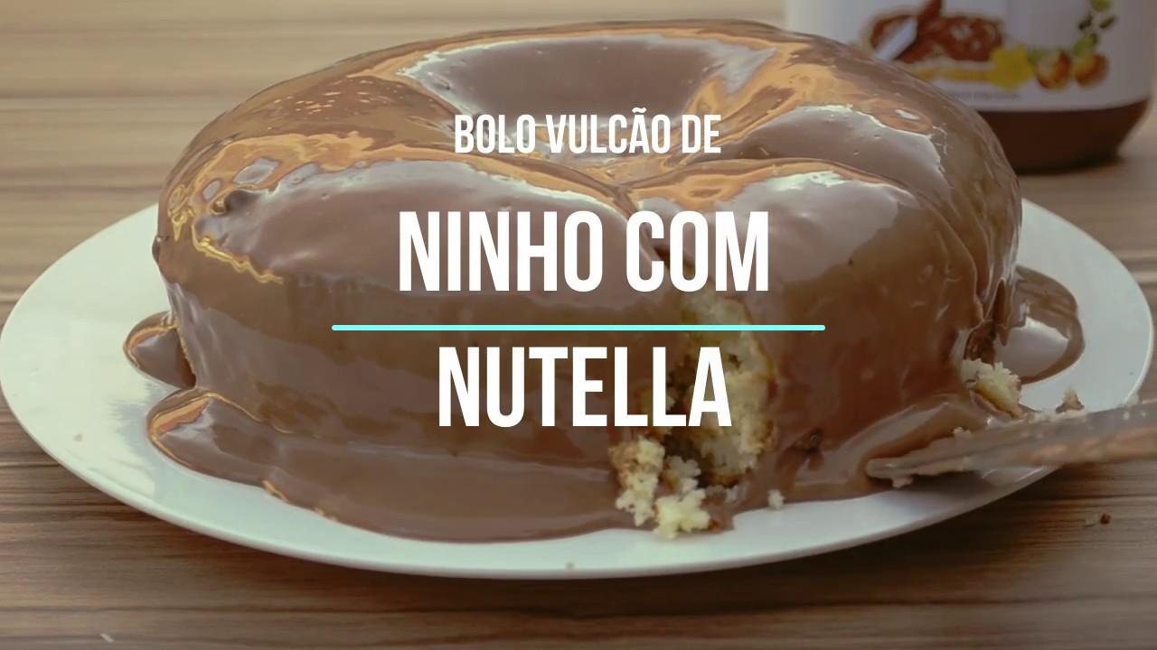 Well-known Bolo Vulcão de Leite Ninho com Nutella - YouTube LV08