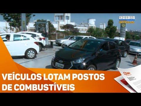 Veículos lotam postos de combustíveis - TV SOROCABA/SBT