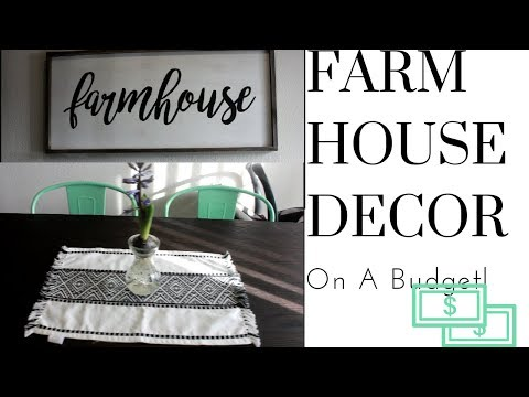 FARMHOUSE DECOR ON A BUDGET! | HUGE DECOR HAUL 2018