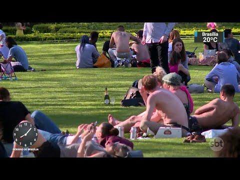 Após nevasca do ano passado, Londres enfrenta onde de calor recorde   SBT Brasil (20/04/18)