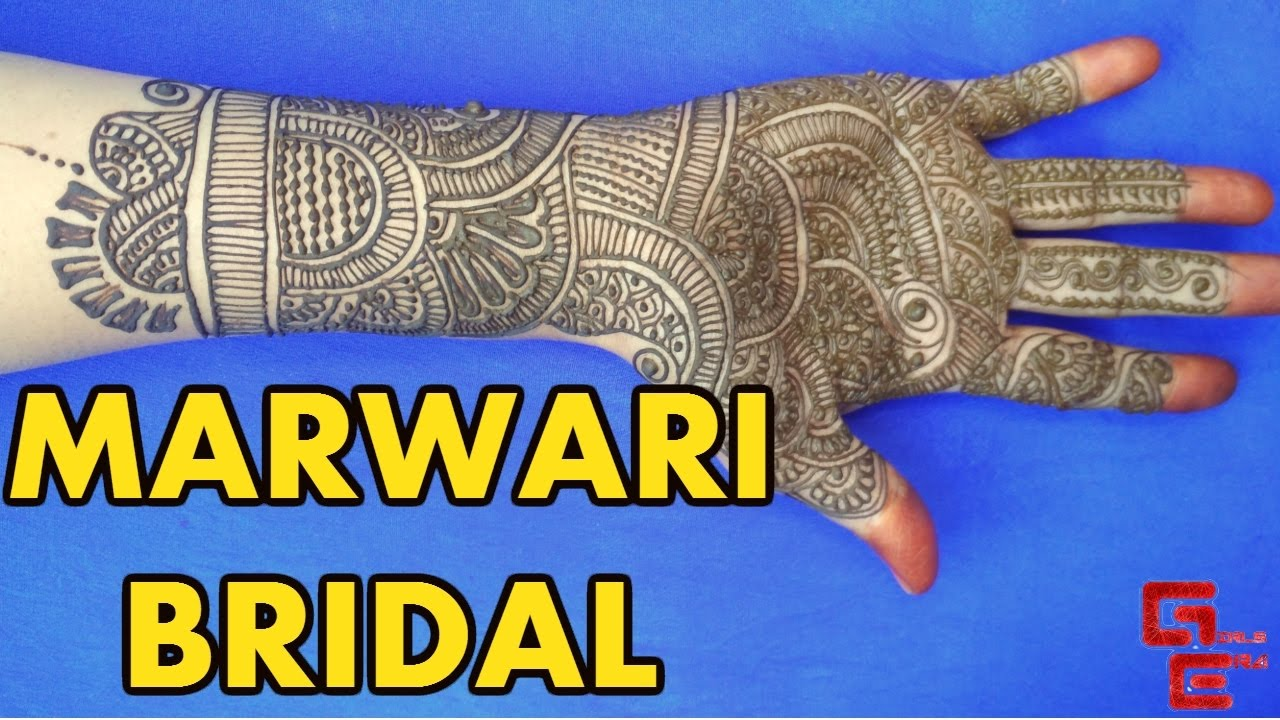 Mehndi design 2017 for bride - Latest Marwari Bridal Mehndi Design On Full Hand 2017 Girls Era
