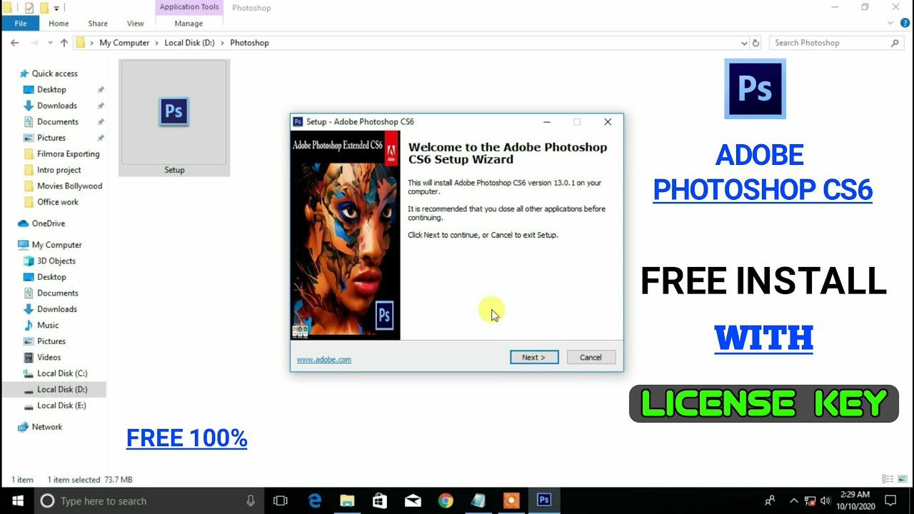 Download and install adobe photoshop cs6