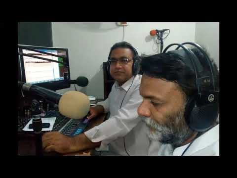 Ali Roshan Shaikh, Renowned Theater Writer & Director Of Sindh @ Hot FM 105 Larkana.