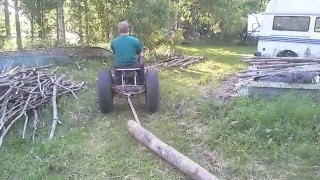 My little homemade garden tractor part7 / winch attachment on a 6.5 hp engine