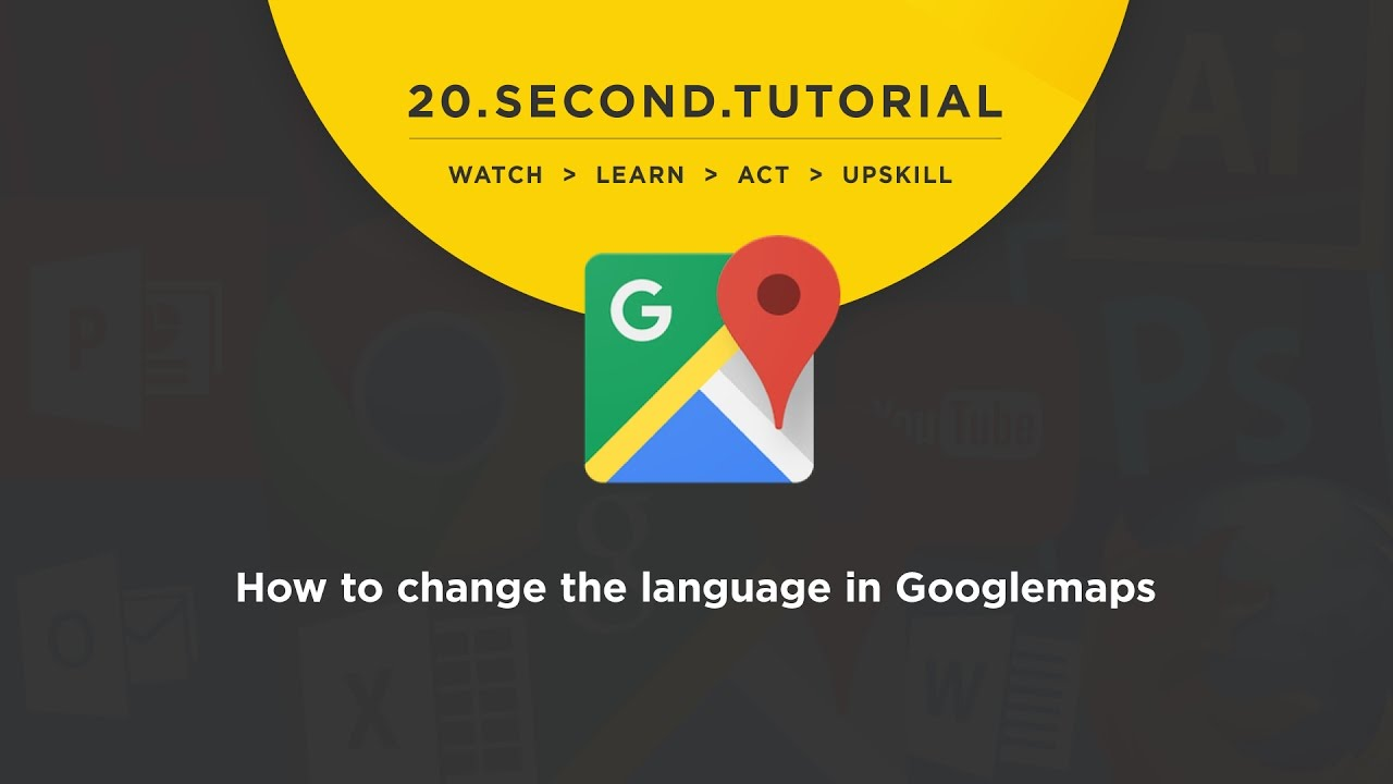 OL - How to change the language: Googlemaps Tutorial #14 - YouTube Change Google Maps Language on