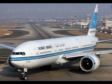 Kuwait Airways Taxiing At Chennai International Airport