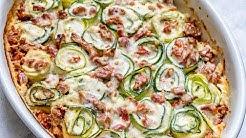 Keto Recipe - Creamy Spinach Alfredo Zucchini Rolls