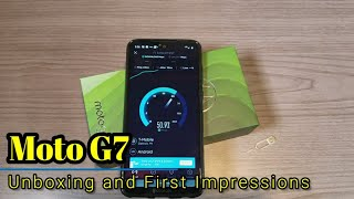 Moto G7 - Unboxing and Quick First Impressions