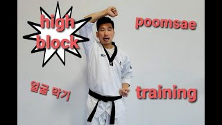 poomsae high block home training