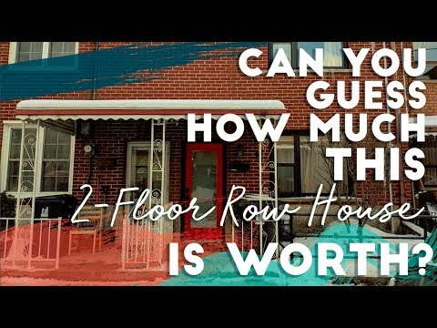 Can you guess the worth of this 2 -Floor Row House?