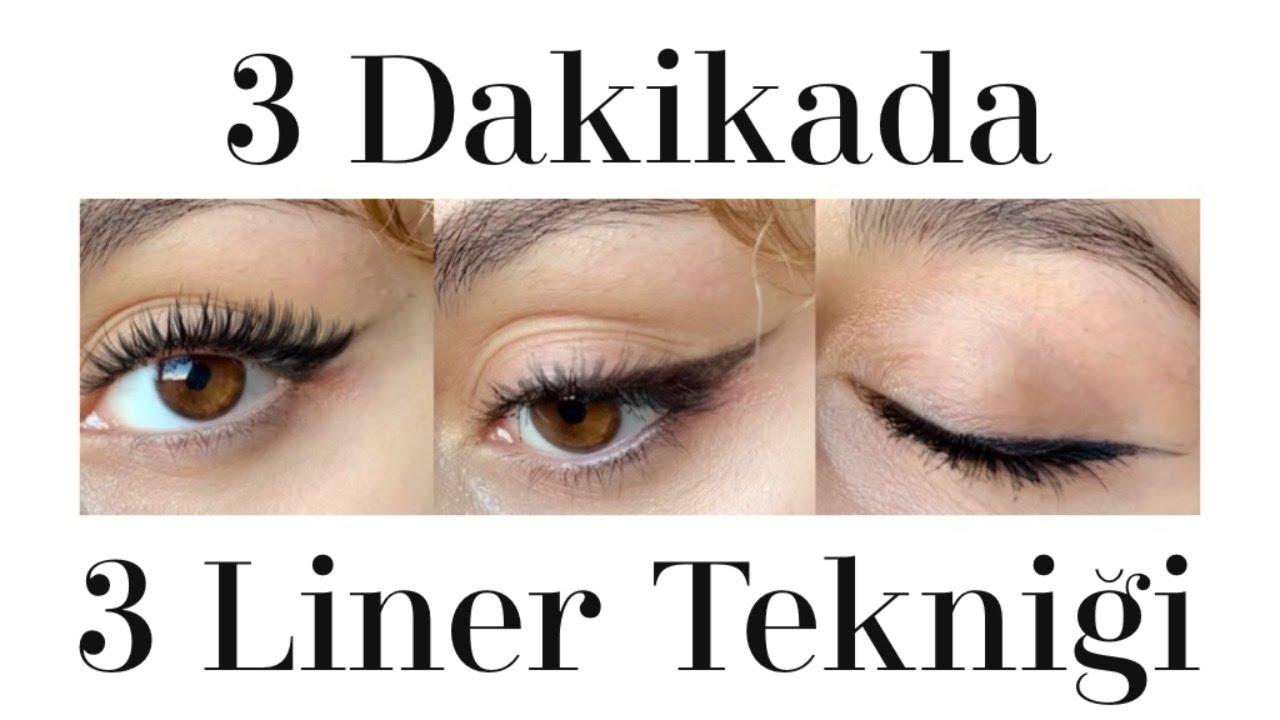 3 Dakikada 3 Kolay Eyeliner Nasıl Çekilir? I Göz Kalemi, Siyah Far ve Likit Eyeliner Sürme