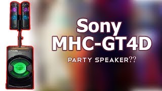 Sony MHC-GT4D Portable DJ System Review & Features 2017 | Reviewrounder