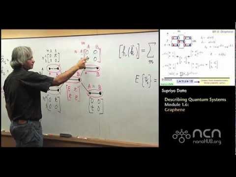 nanoHUB-U Fundamentals of Nanoelectronics II: M1.6 Quantum Systems - Graphene
