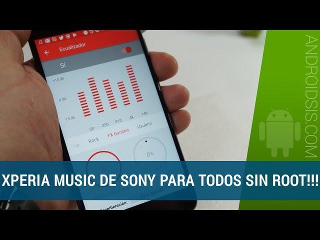 APK] Descargar última versión Xperia Music No ROOT Android 4 4+