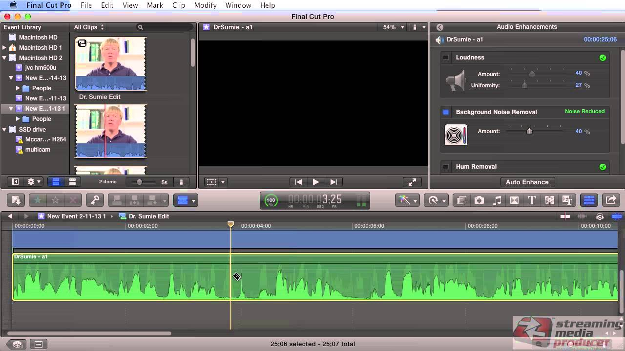 how to make underwater audio on final cut pro
