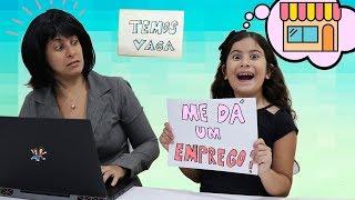 MARIA CLARA PROCURA EMPREGO E ABRE UMA LOJINHA DE SLIME!  Slime Shop Pretend Play