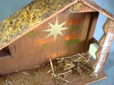nativity creche music box