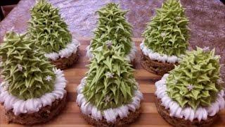 Новогоднее пирожное ЁЛОЧКА cake decoration Украшение Рецепт пирожного