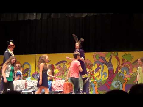 Abbie Harris in Alice In Wonderland Jr. as the March Hare