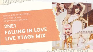 2NE1 - FALLING IN LOVE Live Stage Mix (9 IN 1 Compilation + Winnings)