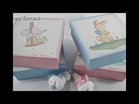 Cajas y cajitas para beb s youtube - Cajas decoradas para bebes ...