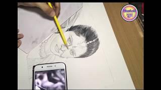 Drawing Anushka Shetty as Devasena Speed Drawing Video |SketchSutra|