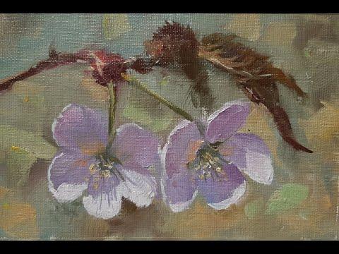 Рисуем цветочки. Мастер-классы художника Вугара Мамедова