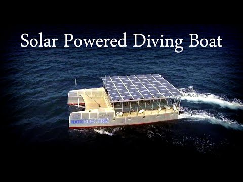 Heliodive: Awesome Solar Powered Scuba Diving Catamaran: Solar Watercraft