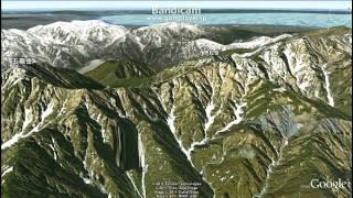 Google earthで見た後立山連峰