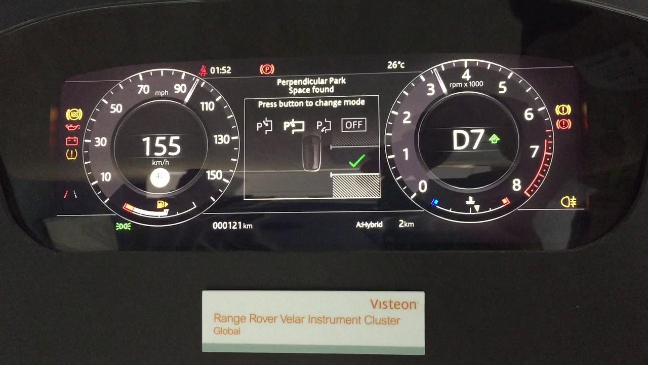 New Range Rover Velar >> Range Rover Velar Instrument Cluster - YouTube