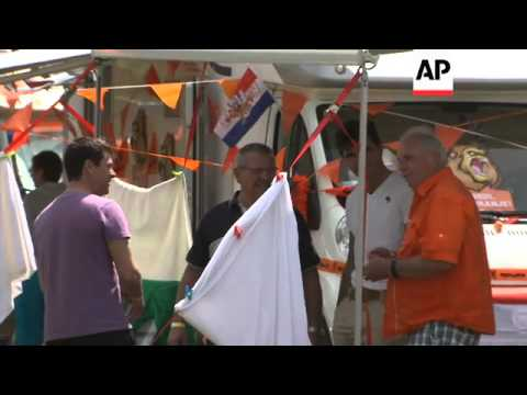 DUTCH CAPTAIN ON RACIST ABUSE; DUTCH FANS; TOPLESS PROTEST