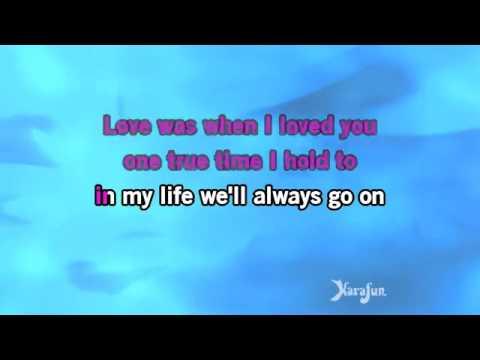 Karaoke My Heart Will Go On From Titanic movie soundtrack   Céline Dion