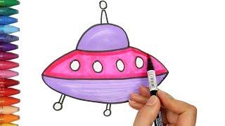 Как рисовать космический корабль - Как рисовать и цвет