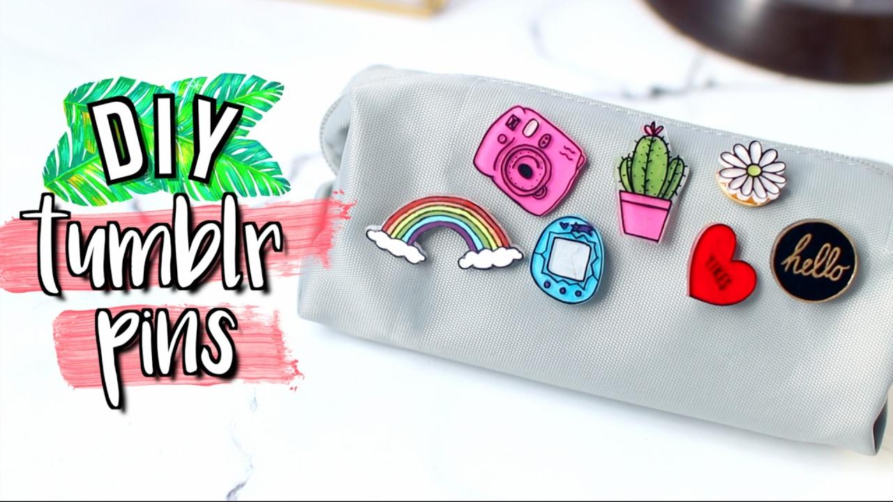 Diy Tumblr Pins Using Things You Already Have Jenerat