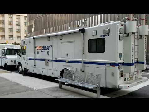 Port Authority Police Department Special Operations Division Mobile Command In Manhattan, New York