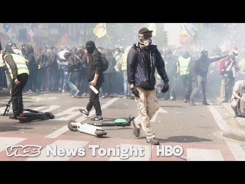 France's Yellow Vest Protestors Took To The Streets For May Day (HBO)
