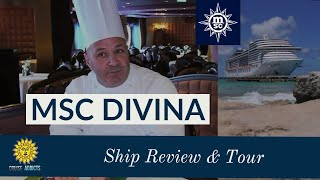 Watch our review and tour of MSC Divina and take a closer look at w...