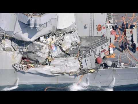 Several sailors' bodies found on stricken Navy destroyer
