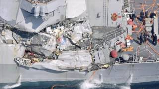 Several sailors' bodies found on stricken Navy destroyer