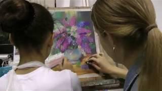 """Уроки рисования пастелью с нуля в студии живописи """"Возрождение"""""""