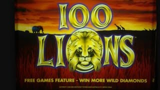 BIG WIN! (& Then A Big Flop) 100 Lions Slot Machine-2 BONUSES $4.00 BET