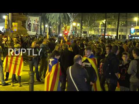 LIVE: Pro-Catalan protesters rally in Barcelona