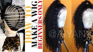 HOW TO MAKE A WIG LIKE A PRO || BEGINNERS ONLY || WEST KISS DEEP WAVE