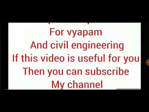All important  qustion for civil engineering and for vyapam sub engineering in details  solution