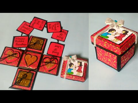 Explosion Box | Valentine's Day | Gift Idea For him | Gift idea Box | By Punekar Sneha