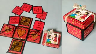 Explosion Box   Valentine's Day   Gift Idea For him   Gift idea Box   By Punekar Sneha