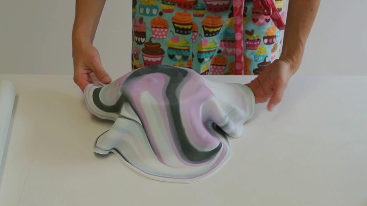 Kopie Von Marbled Cake Marmorierter Fondant Marmor Effekt An
