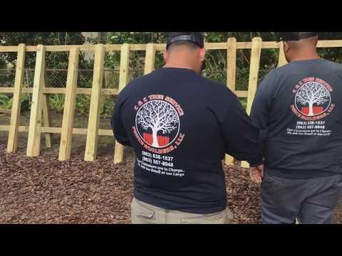 Stockade Fence - C&C Tree Service Fence Builders, LLC