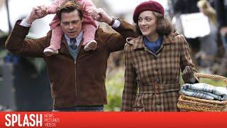 "Brad Pitt and Marion Cotillard Film ""Five Seconds of Silence"" | Splash News"